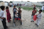 Pakistani Christian children in area where little girl was assucsed of buring pages of the holy quran